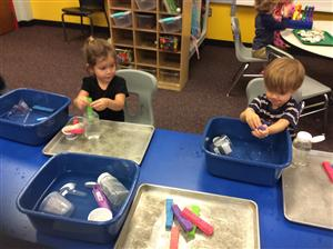 Exploring Pouring and Squeezing with Water