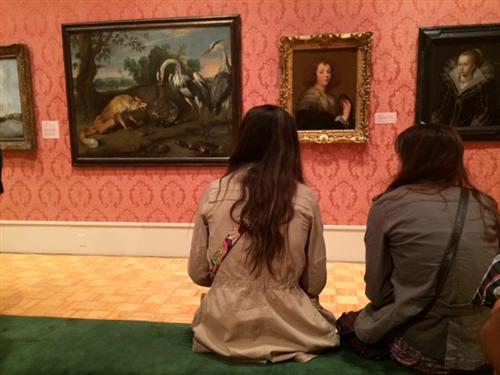 Students at the Memorial Art Gallery in Rochester 2015